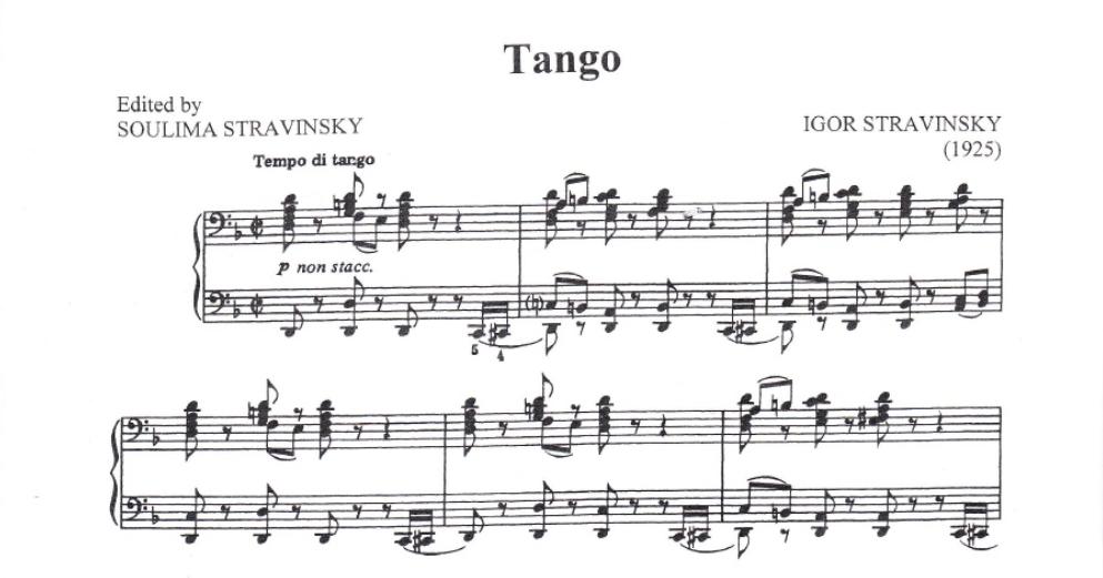 Tango de Stravinsky en El Mayor