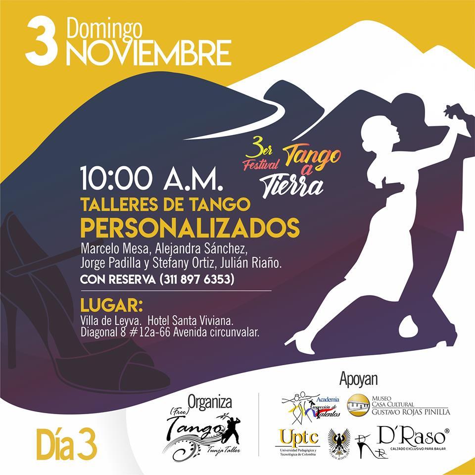 Taller tango personalizado Festival Tango a Tierra