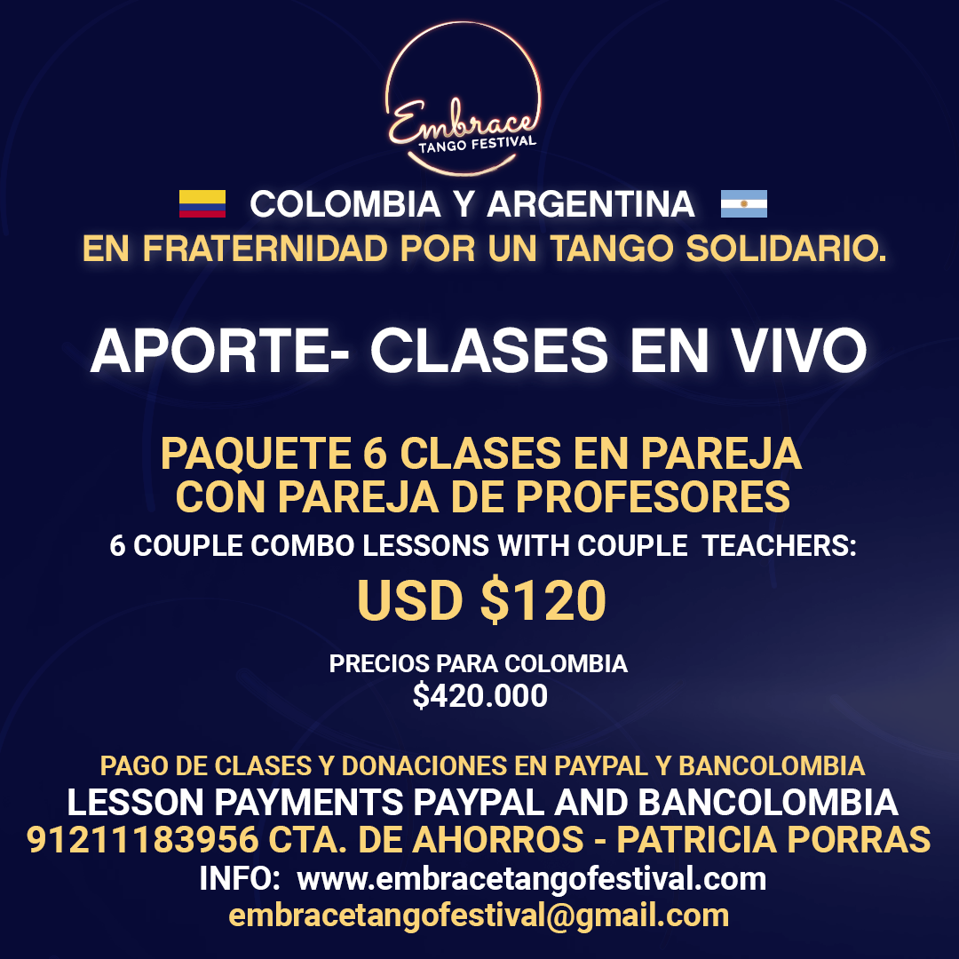 Embrace Tango 6 clases